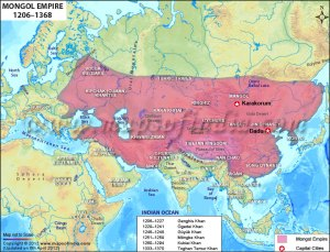 Map of Mongolian Dynasty